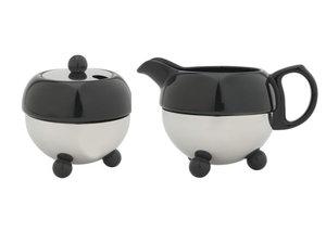 Cosy® Melkkannetje & Suikerpot Zwart