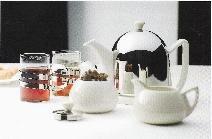 Cosy® Manto Set: Theepot Wit 1,0 Liter met suikerpot en me