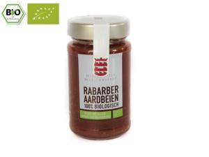 Marienwaerdt Rabarber Aardbeien 100% Fruit 260 gram BIO NL-BIO-01
