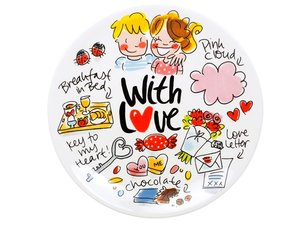 Blond Amsterdam Cake Plate With Love: Key 18 CM