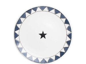 BLond X Noir Bord 22 cm Star