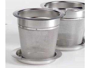 Edelstaal filter met deksel - 6 cm diameter en 7 cm hoogte