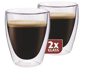 Thermo-glazen set van twee: Koffie 235 ml