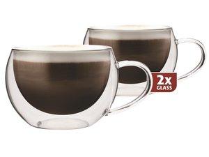Thermo-glazen set van twee: Cappuccino 300 ml