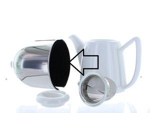 Bredemeijer Cosy Manto Theepot Wit/Zwart 0,6 Liter, vervangende vilt set