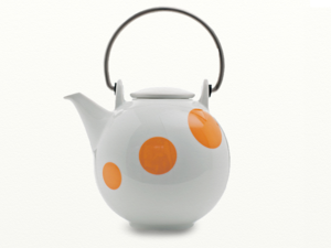 Eslau Bornholm Orange Polkadot, 1,4 liter theepot