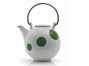 Eslau Bornholm groen Polkadot, 1,4 liter theepot