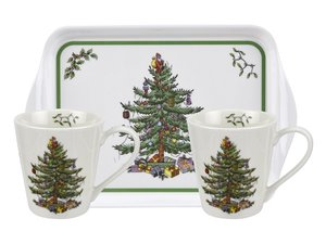 Spode - Kerstboom Beker en Dienblad set