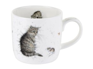 Royal Worcester Wrendale - Cat and Mouse Mug