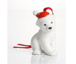 Franz Holiday Greetings Polar Bear Ornament