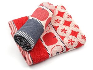 Bunzlau Keuken Handdoek Apple Red
