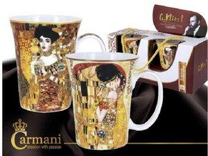 Carmani Set van 2 bekers - Klimt De kus (Licht) en Judith I
