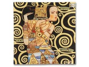 Carmani glazen cake bordje- Gustav Klimt Expectation