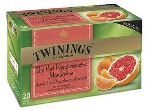 Twinings Groene thee Grapefruit & Mandarijn 20 theezakjes (32 gram)