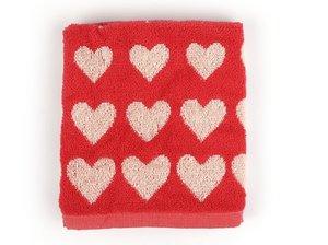 Bunzlau Keuken Handdoek Hearts Red