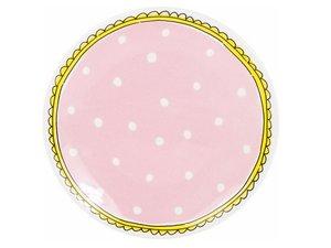 Blond Amsterdam Gebaksbord Pink Dots 18 CM