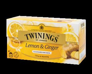 Twinings Citroen & Gember Kruideninfusie 25 theezakjes (37,5 gram)