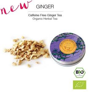 Yeh Tea Ginger - Blikje 40 gram NL-BIO-01