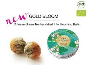 Yeh Tea Gold Blooms - Blikje met 7 ballen (50 gram)