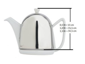 Bredemeijer Cosy Manto Theepot Wit 1,0 Liter, losse theepot