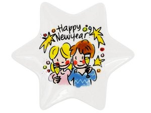 Blond Amsterdam Christmas Petit Four Star Happy New Year