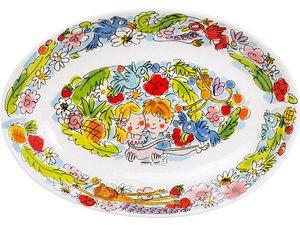 Blond Amsterdam Ovale Kom Paradise Blauw 28,5 cm