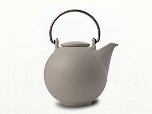 Eslau Bornholm beige / mat wit, 2,6 liter theepot