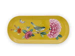 Pip Studio Taartplateau Ovaal Blushing Birds Yellow