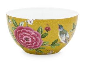 Pip Studio Kom Blushing Birds Geel 15 cm
