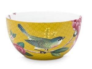 Pip Studio Kom Blushing Birds Geel 12 cm