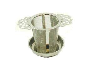 Edelstaal filter met 2 artistieke handvatten - 5,5 cm Diameter