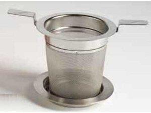 Edelstaal filter met 2 handvatten en deksel - 5,9 cm Diameter