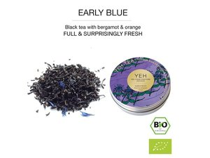 Yeh Tea Early Blue - Blikje 30 gram NL-BIO-01