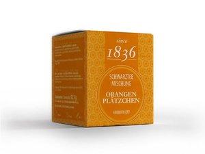 Zwarte Thee - Oranje koekjes 15 Pyramide theezakjes (60 gram)