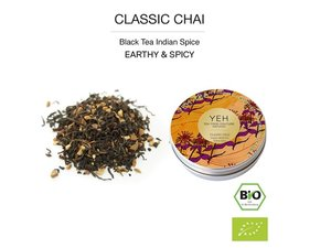 Yeh Tea Classic Chai - Blikje 35 gram NL-BIO-01