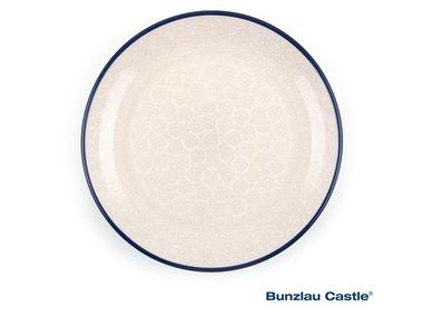 Bunzlau Plate 20 cm White Lace