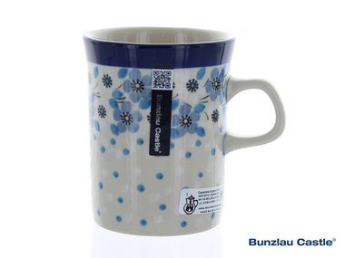 Bunzlau Beker Recht 250 ml Blue White Love