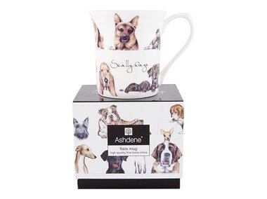 Ashdene Scally Dogs beker in geschenkverpakking