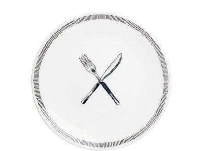 BLond X Noir Bord 22 cm Fork & Knife