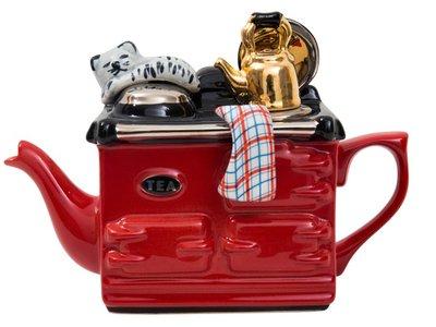 Aga, een kops theepot, Rood