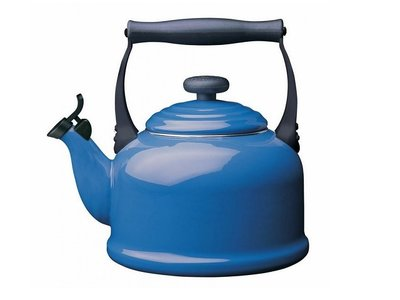 Le Creuset Fluitketel Tradition 2,1 Liter, Blauw