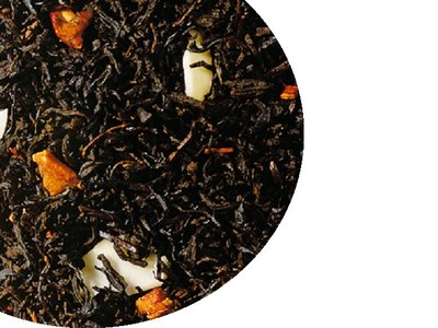 Zwarte kerstthee - met sinaasappel, 100 gram