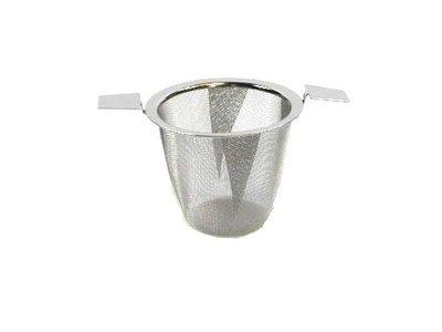 Edelstaal filter met 2 handvatten - 7,5 cm Diameter