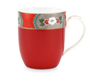 Pip Studio Mok Small Blushing Birds Rood