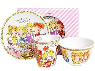 Blond Amsterdam Ontbijt Set Even Bijkletsen Roze