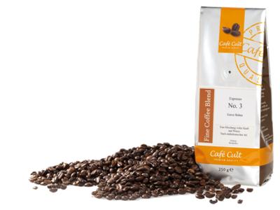 Café Cult Espresso nr. 3 in zak van 250 g, hele bonen