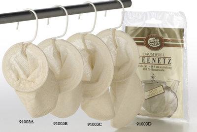 Cotton Teafilter, size S, M, L, M extra long