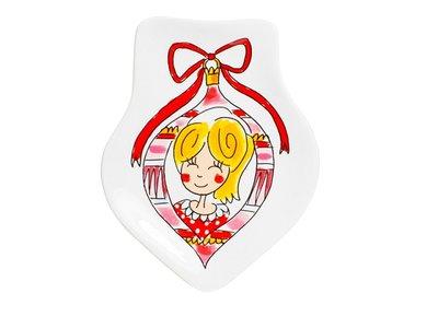 Blond Amsterdam Kerst 3D Bord Meisje