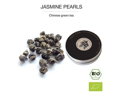 Yeh Tea Jasmine Pearls - Blikje 40 gram NL-BIO-01