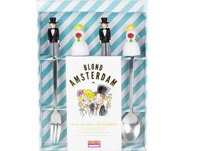 Blond Amsterdam 2 Taartvorkjes en 2 Theelepels Wedding